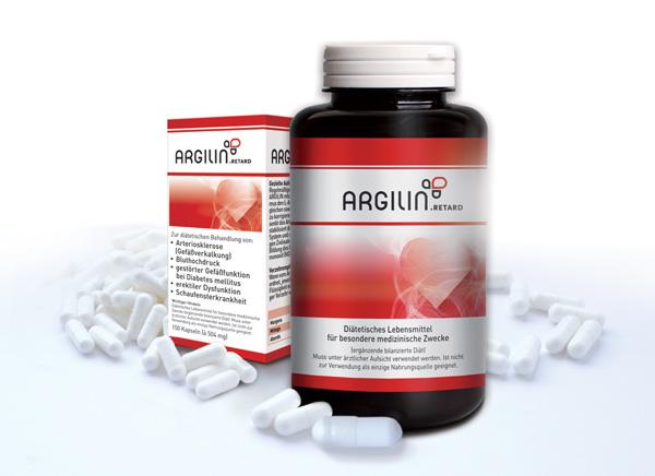 Arginin und Citrullin als Argilin.retard bei Arteriosklerose und Bluthochdruck